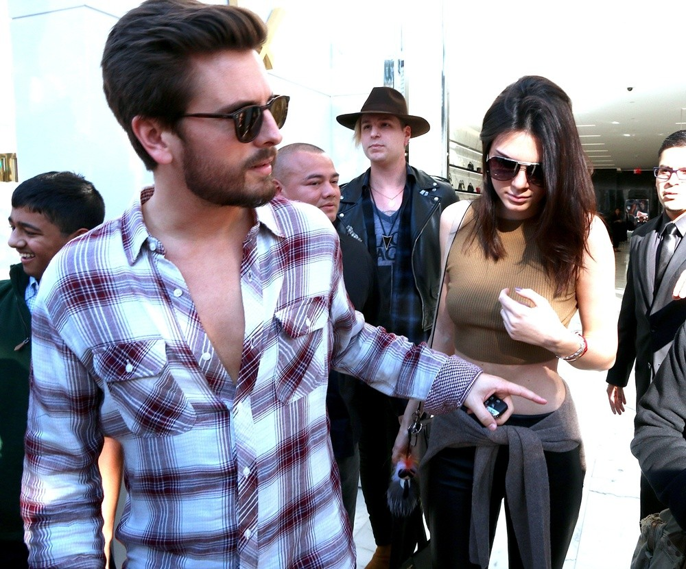Kendall Jenner and Scott Disick shopping for the holidays