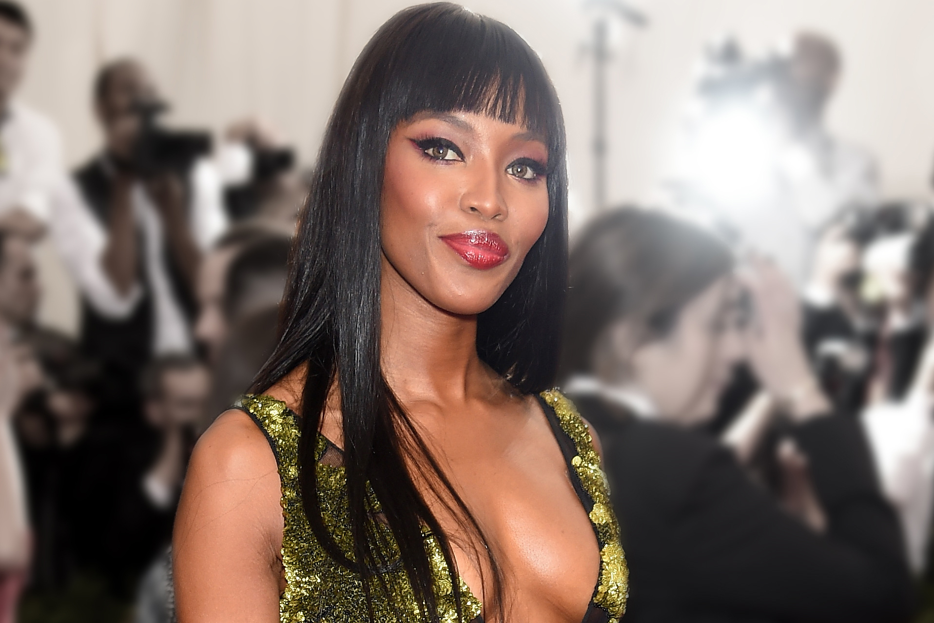 "NEW YORK, NY - MAY 04: (EDITORS NOTE: Image has been digitally altered.) Naomi Campbell attends the ""China: Through The Looking Glass"" Costume Institute Benefit Gala at the Metropolitan Museum of Art on May 4, 2015 in New York City. (Photo by Dimitrios Kambouris/Getty Images)"