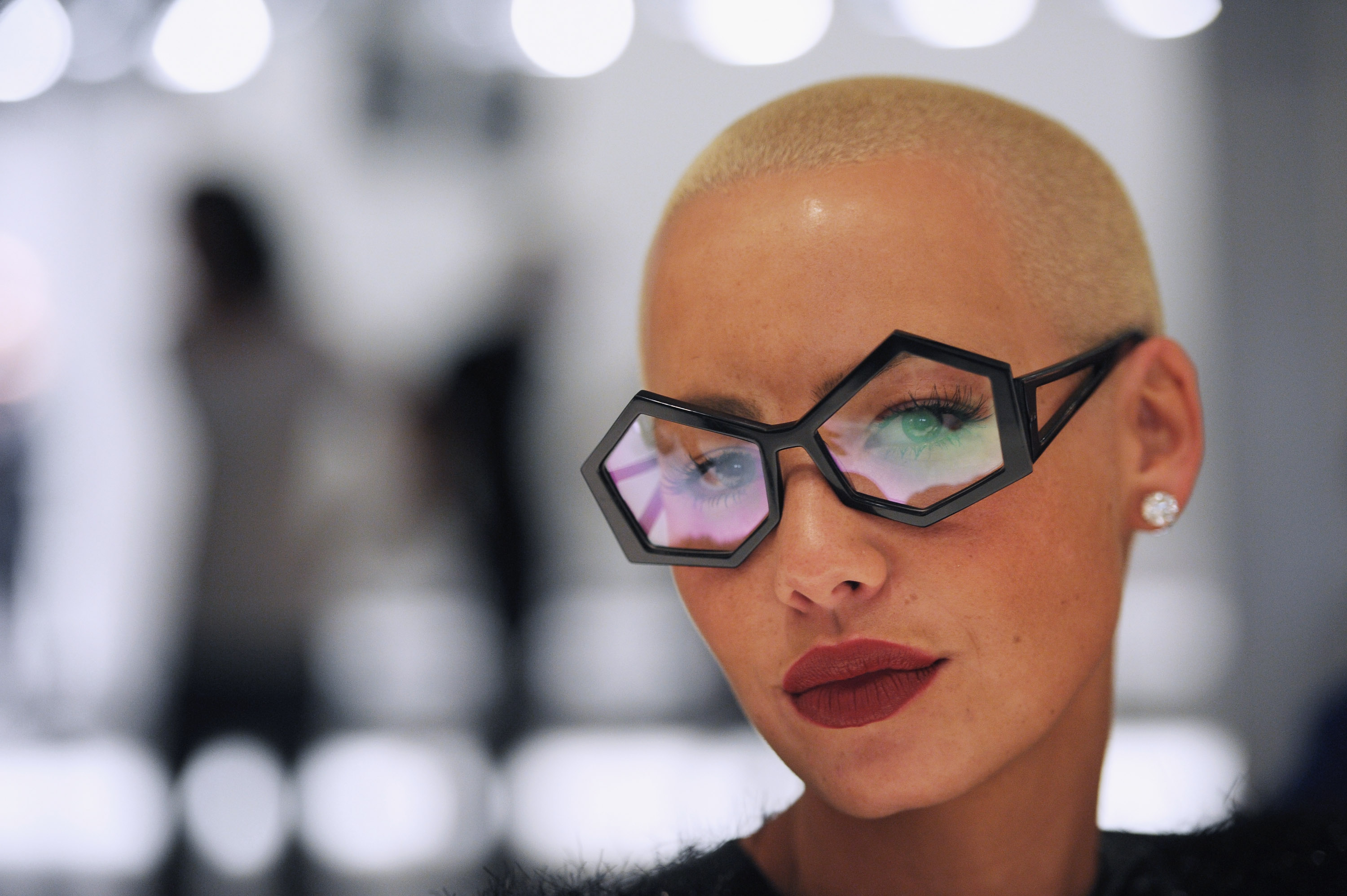 LONDON, ENGLAND - SEPTEMBER 19: Amber Rose attends the Pam Hogg Spring Summer 2011 fashion show at On/Off during London Fashion Week on September 19, 2010 in London, England. (Photo by Ian Gavan/Getty Images)