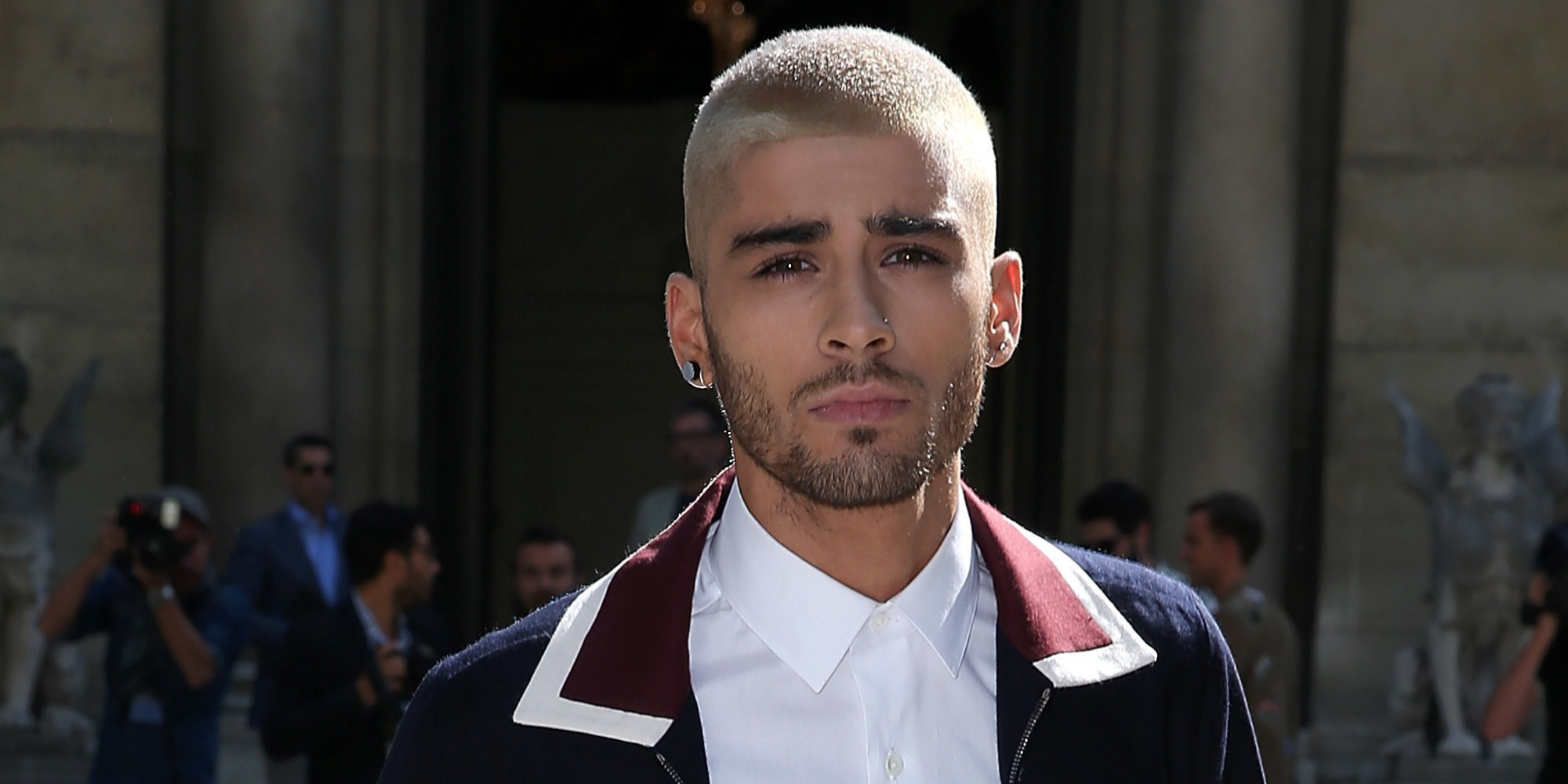 PARIS, FRANCE - JUNE 24: Zayn Malik attends the Valentino Menswear Spring/Summer 2016 show as part of Paris Fashion Week on June 24, 2015 in Paris, France. (Photo by Pierre Suu/Getty Images)