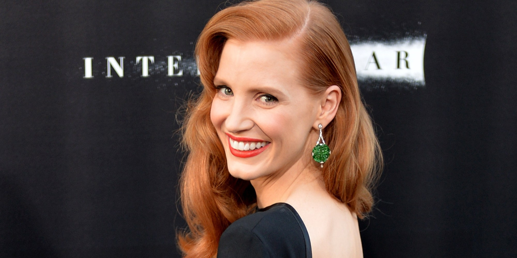 Actress Jessica Chastain arrives for the premiere of Paramount Picture's movie 'Interstellar' at the TCL Chinese Theatre in Hollywood, California on October 26, 2014 AFP PHOTO/Mark RALSTON (Photo credit should read MARK RALSTON/AFP/Getty Images)