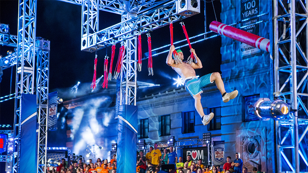 "AMERICAN NINJA WARRIOR -- ""Kansas City"" -- Pictured: James Fenby -- (Photo by: Kyle Rivas/NBC)"