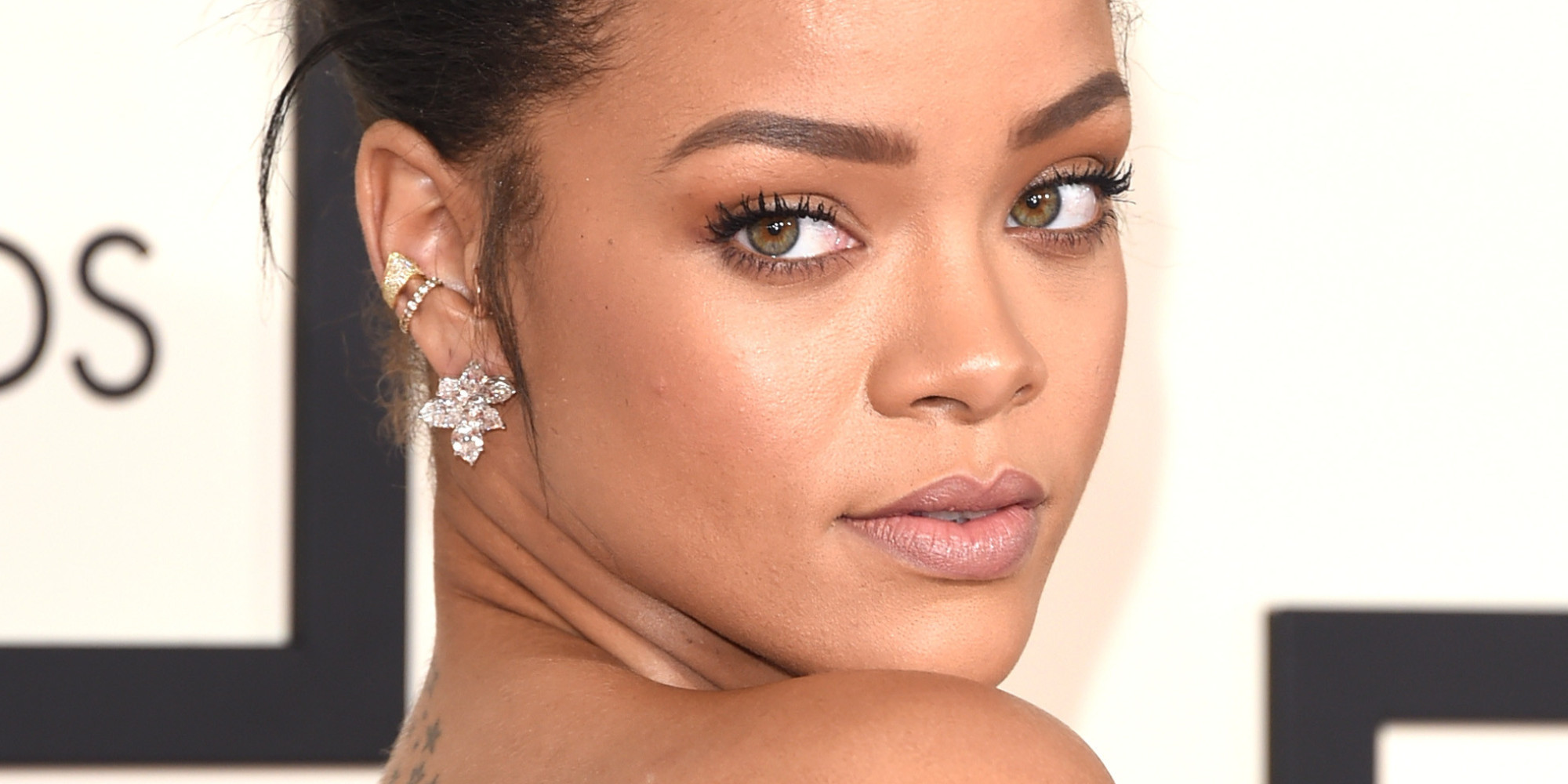 LOS ANGELES, CA - FEBRUARY 08: Singer Rihanna attends The 57th Annual GRAMMY Awards at the STAPLES Center on February 8, 2015 in Los Angeles, California. (Photo by Jason Merritt/Getty Images)