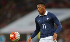 Anthony Martial in action for France against England