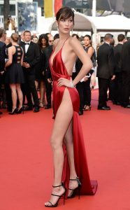 """CANNES, FRANCE - MAY 18: Model Bella Hadid attends """"The Unknown Girl (La Fille Inconnue)"""" Premiere duirng the annual 69th Cannes Film Festival at Palais des Festivals on May 18, 2016 in Cannes, France. (Photo by Pascal Le Segretain/Getty Images)"""