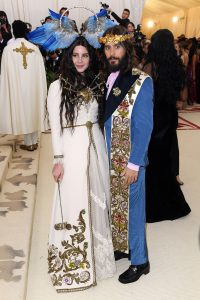 Mandatory Credit: Photo by David Fisher/REX/Shutterstock (9662983dw) Lana del Rey and Jared Leto The Metropolitan Museum of Art's Costume Institute Benefit celebrating the opening of Heavenly Bodies: Fashion and the Catholic Imagination, Arrivals, New York, USA - 07 May 2018