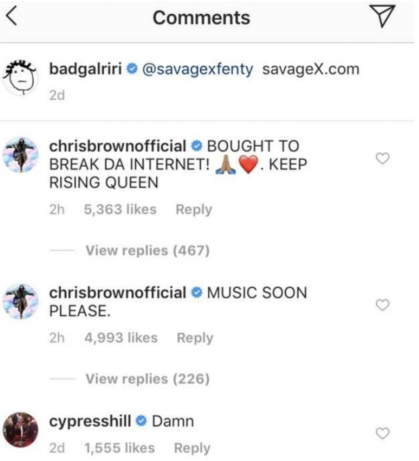 commentaire de Chris Brown