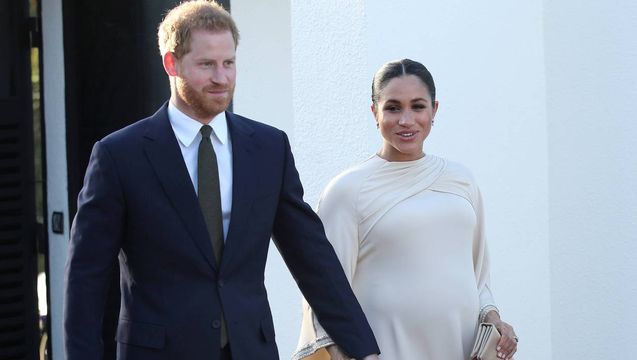FILE PHOTO: Britain's Prince Harry and Meghan, Duchess of Sussex arrive for a reception hosted by the British Ambassador to Morocco at the British Embassy in Rabat, Morocco February 24, 2019. Yui Mok/Pool via REUTERS/File Photo
